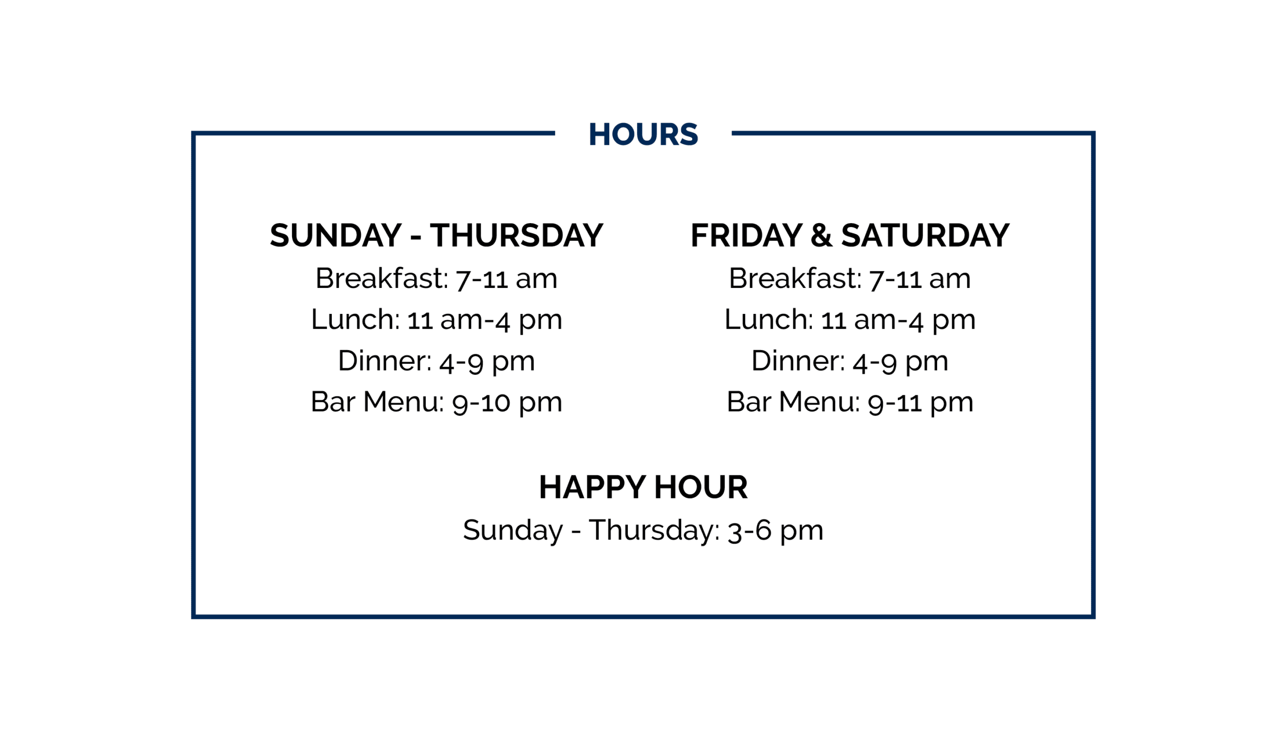 Silos Restaurant Hours